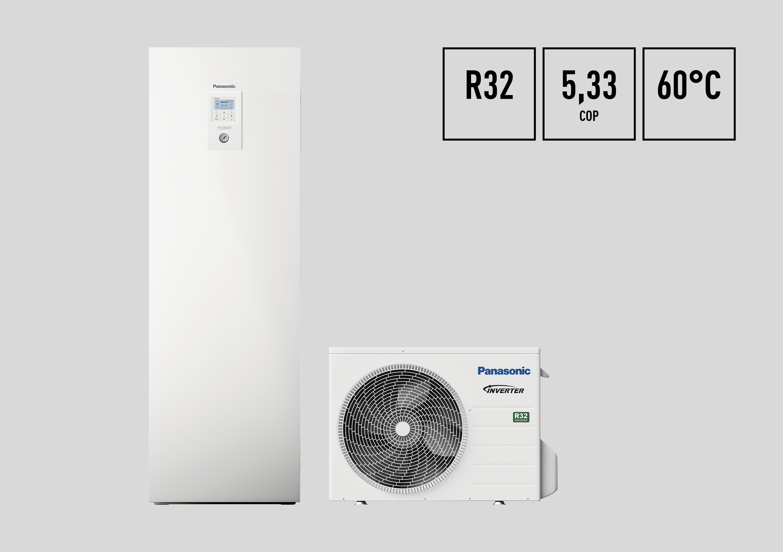 Die Luft/Wasser-Wärmepumpen der AQUAREA J-Serie von Panasonic verwenden das umweltverträgliche Kältemittel R32 und sorgen für noch mehr Effizienz und Komfort im Heiz- und Kühlbetrieb.